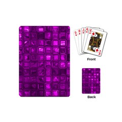Glossy Tiles,purple Playing Cards (mini)  by MoreColorsinLife