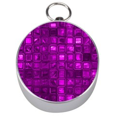 Glossy Tiles,purple Silver Compasses by MoreColorsinLife