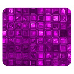 Glossy Tiles,purple Double Sided Flano Blanket (small)  by MoreColorsinLife