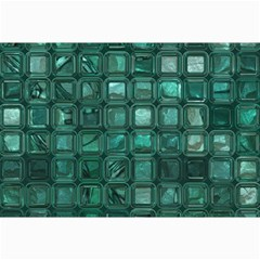 Glossy Tiles,teal Collage 12  X 18  by MoreColorsinLife