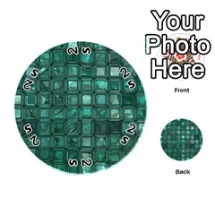 Glossy Tiles,teal Playing Cards 54 (round)