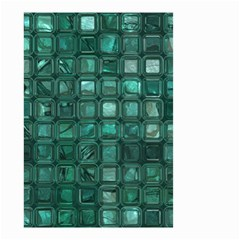 Glossy Tiles,teal Small Garden Flag (two Sides) by MoreColorsinLife