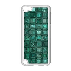 Glossy Tiles,teal Apple Ipod Touch 5 Case (white) by MoreColorsinLife