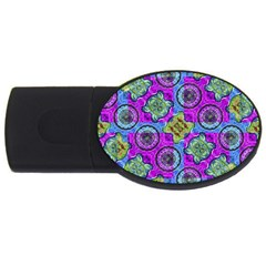 Collage Ornate Geometric Pattern Usb Flash Drive Oval (4 Gb)  by dflcprints