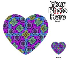 Collage Ornate Geometric Pattern Multi Purpose Cards (heart)  by dflcprints
