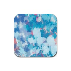 Abstract #2 Rubber Coaster (Square)  by Uniqued