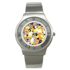 Abstract #9 Stainless Steel Watch by Uniqued
