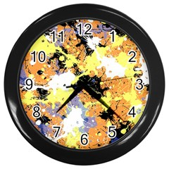 Abstract #10 Wall Clocks (black) by Uniqued