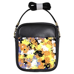 Abstract #10 Girls Sling Bags by Uniqued