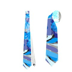 Abstract Floral Neckties (one Side)