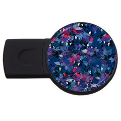 Abstract Floral #3 USB Flash Drive Round (4 GB)  by Uniqued