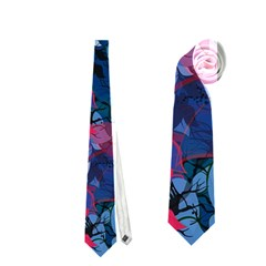 Abstract Floral #3 Neckties (two Side)