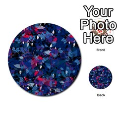 Abstract Floral #3 Multi Purpose Cards (round)  by Uniqued