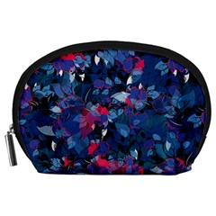 Abstract Floral #3 Accessory Pouches (large)  by Uniqued