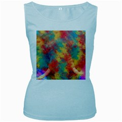 Abstract Elephant Women s Baby Blue Tank Top by Uniqued