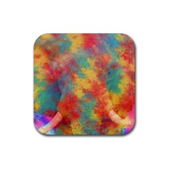 Abstract Elephant Rubber Square Coaster (4 Pack)  by Uniqued