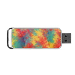 Abstract Elephant Portable Usb Flash (one Side) by Uniqued