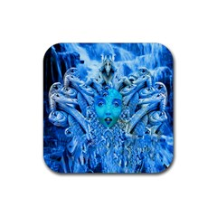 Medusa Metamorphosis Rubber Square Coaster (4 Pack)  by icarusismartdesigns