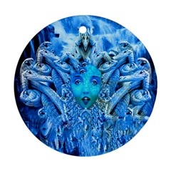 Medusa Metamorphosis Round Ornament (two Sides)  by icarusismartdesigns
