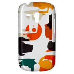 Shapes In Retro Colors On A White Background 			samsung Galaxy S3 Mini I8190 Hardshell Case by LalyLauraFLM