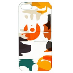 Shapes In Retro Colors On A White Background apple Iphone 5 Hardshell Case With Stand by LalyLauraFLM