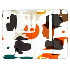 Shapes In Retro Colors On A White Background samsung Galaxy Tab 7  P1000 Flip Case by LalyLauraFLM