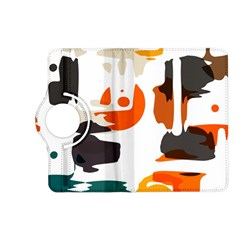 Shapes In Retro Colors On A White Background kindle Fire Hd (2013) Flip 360 Case by LalyLauraFLM