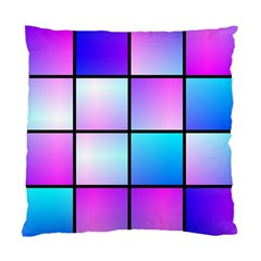 Gradient Squares Pattern  standard Cushion Case (two Sides) by LalyLauraFLM