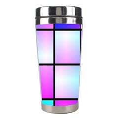 Gradient Squares Pattern  Stainless Steel Travel Tumbler by LalyLauraFLM
