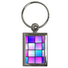 Gradient Squares Pattern  			key Chain (rectangle) by LalyLauraFLM
