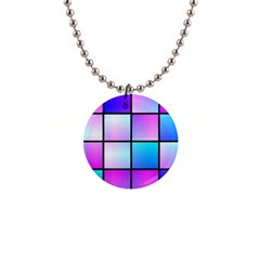 Gradient Squares Pattern  1  Button Necklace by LalyLauraFLM