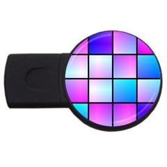 Gradient Squares Pattern  			usb Flash Drive Round (4 Gb) by LalyLauraFLM