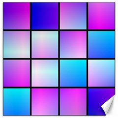 Gradient Squares Pattern  			canvas 12  X 12  by LalyLauraFLM