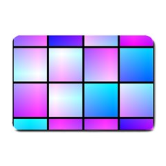 Gradient Squares Pattern  			small Doormat by LalyLauraFLM