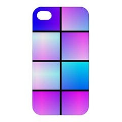 Gradient Squares Pattern  			apple Iphone 4/4s Premium Hardshell Case by LalyLauraFLM