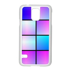 Gradient Squares Pattern  			samsung Galaxy S5 Case (white)