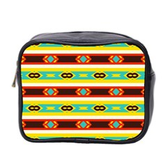 Rhombus Stripes And Other Shapes Mini Toiletries Bag (two Sides) by LalyLauraFLM