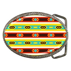 Rhombus Stripes And Other Shapes belt Buckle