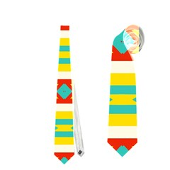 Rhombus Stripes And Other Shapes Necktie by LalyLauraFLM