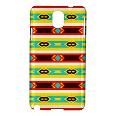 Rhombus Stripes And Other Shapes samsung Galaxy Note 3 N9005 Hardshell Case by LalyLauraFLM
