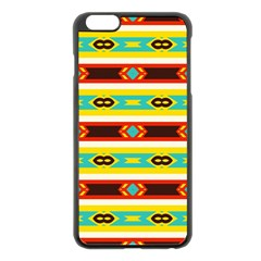 Rhombus Stripes And Other Shapes 			apple Iphone 6 Plus/6s Plus Black Enamel Case by LalyLauraFLM