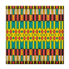 Shapes And Stripes  tile Coaster by LalyLauraFLM