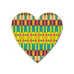 Shapes And Stripes  			magnet (heart) by LalyLauraFLM