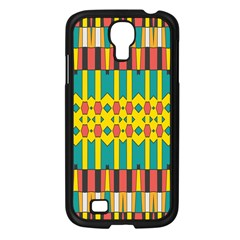 Shapes And Stripes  samsung Galaxy S4 I9500/ I9505 Case (black) by LalyLauraFLM
