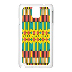 Shapes And Stripes  			samsung Galaxy Note 3 N9005 Case (white) by LalyLauraFLM