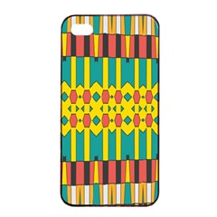 Shapes And Stripes  			apple Iphone 4/4s Seamless Case (black) by LalyLauraFLM