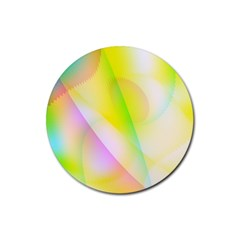 New 5 Rubber Coaster (round)  by timelessartoncanvas