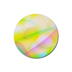 New 7 Rubber Coaster (round)  by timelessartoncanvas