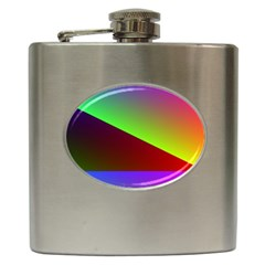 New 8 Hip Flask (6 Oz) by timelessartoncanvas