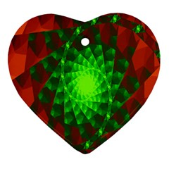 New 10 Ornament (heart)  by timelessartoncanvas